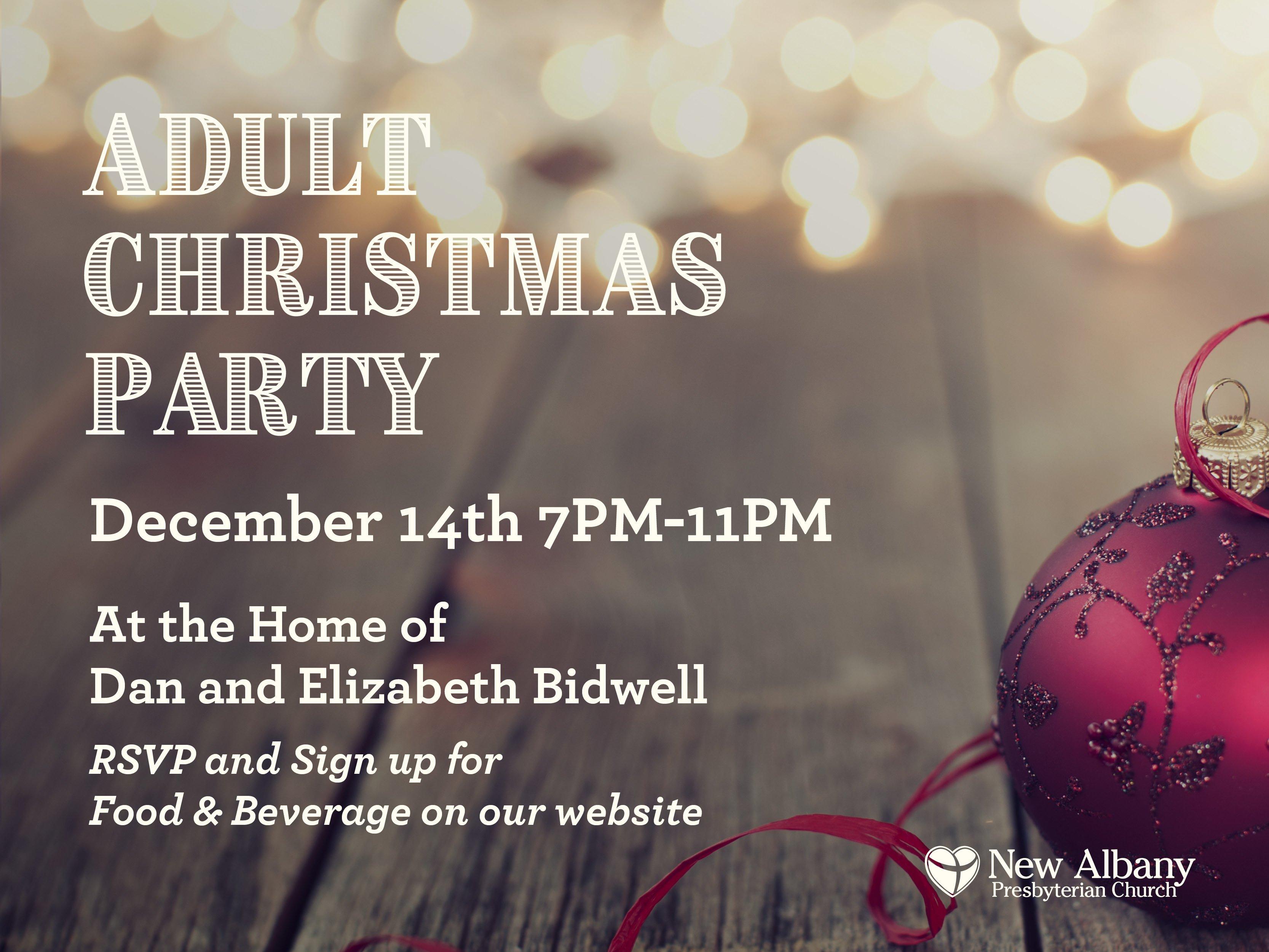 NAPC Adult Christmas Party- Join us!