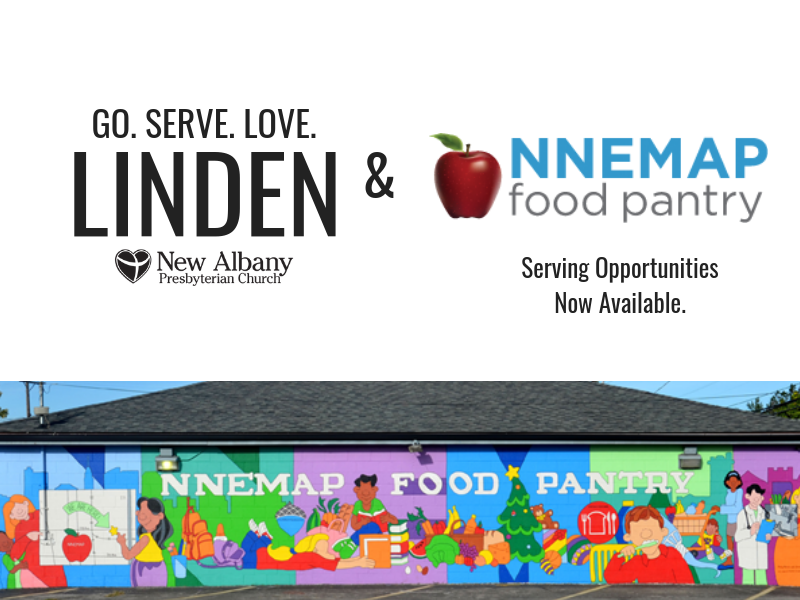 Sign up to serve at the NNEMAP Food Pantry in Linden.
