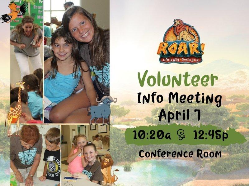 Volunteers needed for VBS 2019!
