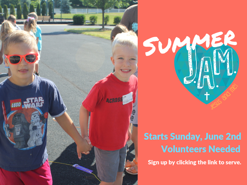Sign-Up Today: Summer JAM! Assistants Needed Starting June 2nd