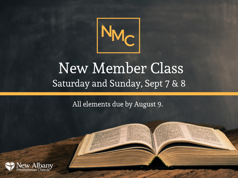 Join us for a New Member Class on Sept 7 and 8