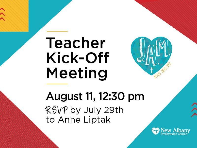 2019/2020 JAM Teacher Kickoff Meeting