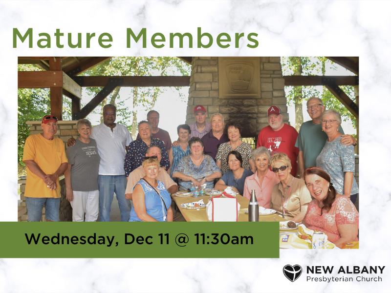 Mature Members December Gathering