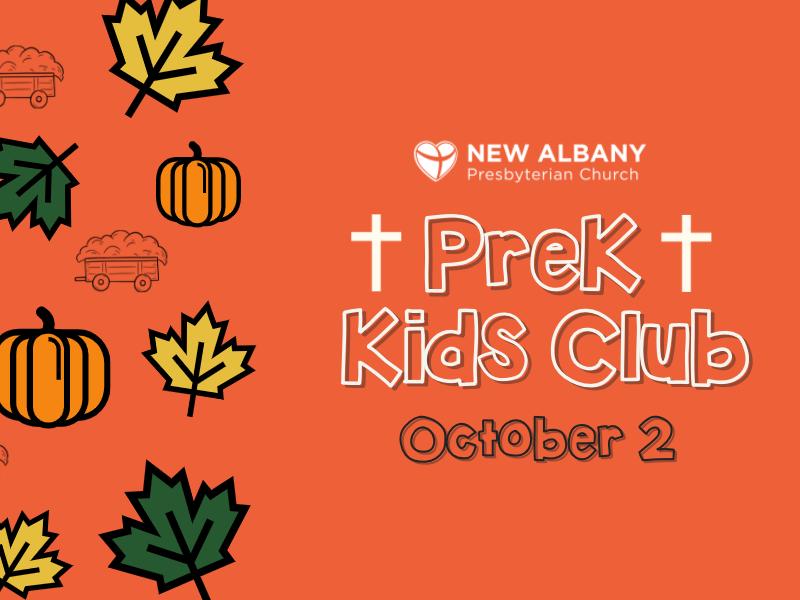 PreK Kids Club Fall Fest